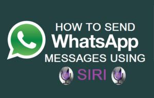 Cómo enviar mensajes de WhatsApp utilizando Siri