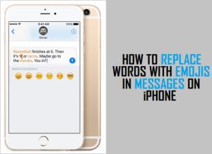 Cómo reemplazar palabras con emojis en los mensajes en el iPhone