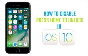 Cómo desactivar Pulse Inicio para desbloquear en iOS 10
