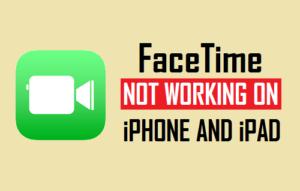 FaceTime no funciona en iPhone y iPad
