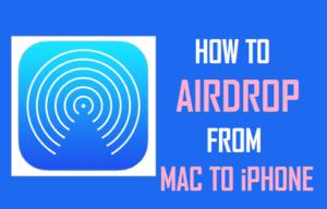 Cómo AirDrop de Mac a iPhone