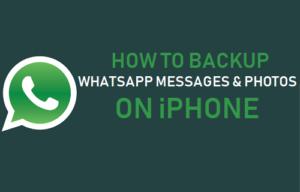 Cómo realizar una copia de seguridad de los mensajes y fotos de WhatsApp en el iPhone