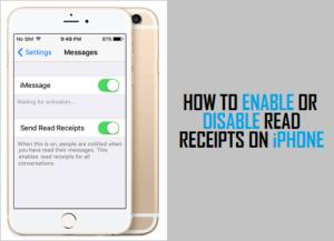 Cómo habilitar o deshabilitar los recibos de lectura en el iPhone