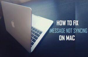 Cómo corregir iMessage que no se sincroniza en Mac