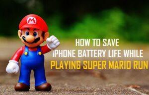 Cómo ahorrar batería para el iPhone mientras juegas a Super Mario Run