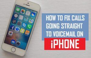 Cómo corregir llamadas que van directamente al buzón de voz en el iPhone