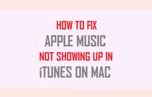 Cómo arreglar la música de Apple no se muestra en iTunes en Mac