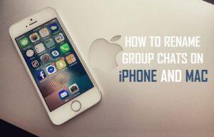 Cómo cambiar el nombre de los grupos de chat en iPhone y Mac