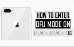 Cómo entrar en el modo DFU en iPhone 8, iPhone 8 Plus