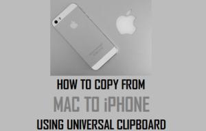 Cómo copiar de Mac a iPhone utilizando el Portapapeles Universal