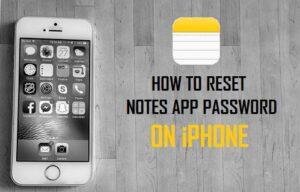 Cómo restablecer la contraseña de Notes App en el iPhone