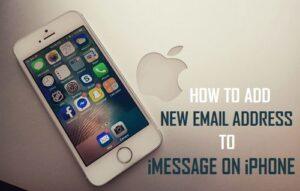 Cómo añadir una nueva dirección de correo electrónico a iMessage en iPhone