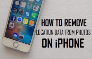 Cómo quitar los datos de ubicación de las fotos en el iPhone
