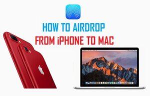 Cómo AirDrop de iPhone a Mac