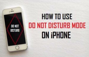 Cómo usar el modo No molestar en el iPhone