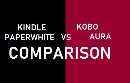 Comparación del aura de Kindle Paperwhite contra Kobo