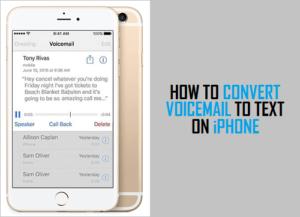 Cómo convertir correo de voz a texto en el iPhone